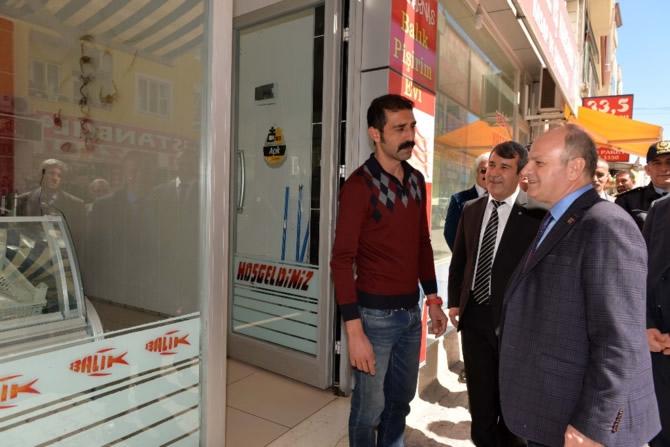 Mut Halkı ve Esnafı Mersin Valisi Özdemir Çakacak'ı bağrına bastı galerisi resim 19
