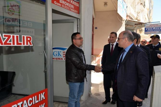 Mut Halkı ve Esnafı Mersin Valisi Özdemir Çakacak'ı bağrına bastı galerisi resim 20