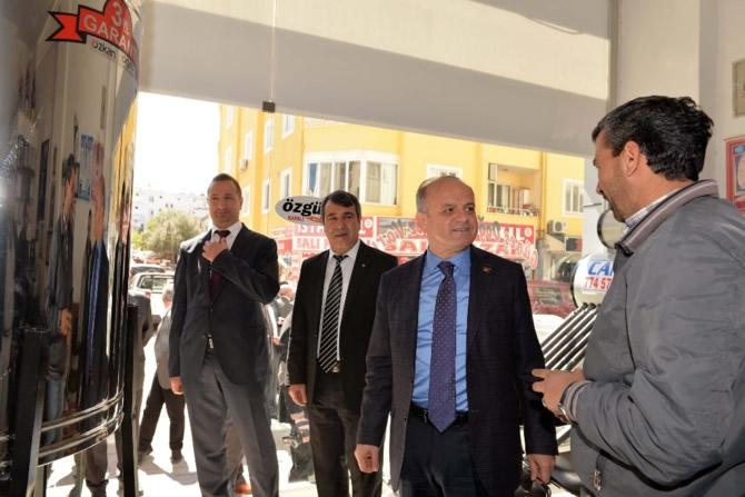 Mut Halkı ve Esnafı Mersin Valisi Özdemir Çakacak'ı bağrına bastı galerisi resim 23
