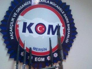 Mersin'de silah kaçakçılığı operasyonu