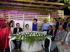 Başkan Tollu, oğlu Buğra Tollu'yu evlendirdi