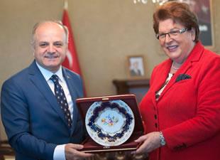 Bavyera Meclis Başkanı Stamm, Vali Çakacak'ı ziyaret etti