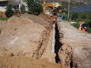 MESKİ, Aydıncık'ta kanalizasyon çalışmalarına devam ediyor