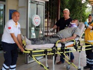 Mut'ta kamyon şarampole düştü: 2 yaralı