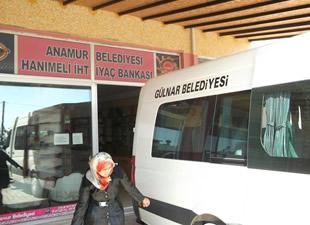 Anamur'dan Gülnar'a Hanımeli desteği
