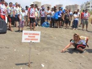 Mersin'de Caretta Bisiklet Festivali şöleni