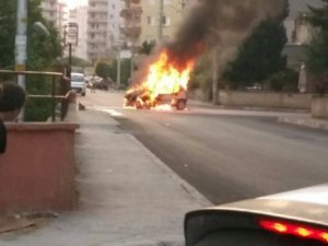 LPG'li araç yandı