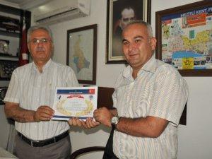 Mezitli'de Okul Aile Birliği Başkanları'na Teşekkür Belgesi verildi