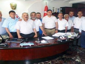 Mersin Şoför esnaf odası başkanları, şoförlerin sorunlarını masaya yatırdı