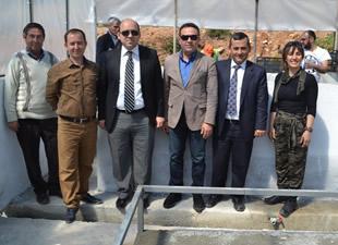 Aydıncık'ta kurbağa yetiştiriciliği çiftliği açıldı