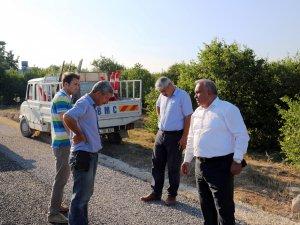 Başkan Tollu, asfalt çalışmalarını inceledi