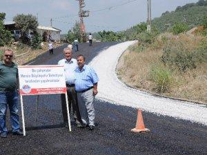 Mersin Büyükşehir Belediyesi, Esenpınar yolunu asfaltladı