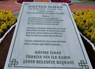 Türkiye'nin ilk kadın il belediye başkanı Müfide İlhan'ın heykeli açıldı