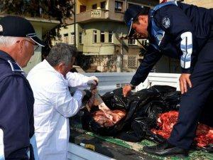 Mersin'de 200 Kg at eti ele geçirildi