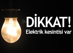 4 ilçede elektrik kesintisi olacak