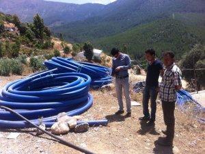 Sulama suyu tesisleri yapımı devam ediyor