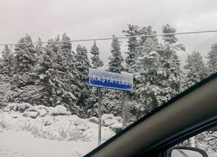 Anamur'un yaylalarına kar yağdı, Toroslar beyaza büründü