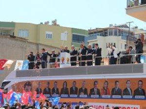 Ak Parti Mersin Milletvekili Adayları, Mut'ta coşkuyla karşılandı