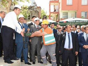 Tarsus'ta Gazi Mahallesi Taziye Evi'nin temeli atıldı
