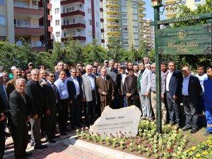 Mezitli'de ilk belediye başkanın ismi parka verildi