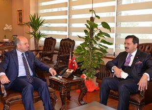 TOBB Başkanı Hisarcıklıoğlu, Vali Çakacak'ı ziyaret etti