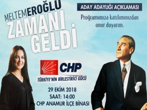 Meltem Eroğlu Aday Adaylığı Açıklaması