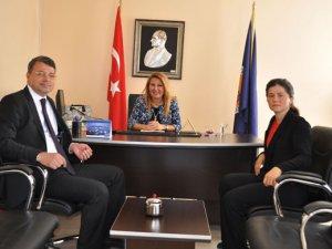 Başkan Turgut, Yüksekokulu Müdürü Ergene'yi ziyaret etti