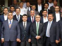 MHP Mersin Milletvekili adayları, TSO ve Borsa'yı ziyaret etti