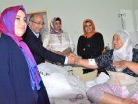 Ak Partili Yalvaç, hastaları ziyaret etti