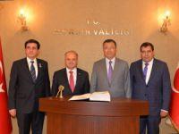 Büyükelçi Tüymebayev'den Vali Çakacak'a ziyaret