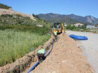 Meski Anamur'da 11 bin 100 metre içme suyu hattı döşedi