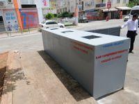 Yenişehir'de çöp konteynırları çelik kasa içerisine alınıyor