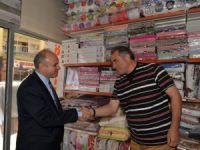 Mersin Valisi Özdemir Çakacak, esnafları ziyaret etti