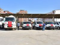 Mersin Büyükşehir Belediyesi'nden Anamur'a 50 araçlık takviye