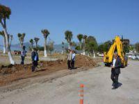 Bozyazı Gözce Mahallesi'nde park düzenlemesi yapılıyor
