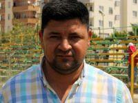 Erdemli Belediyespor'da saha yenileme çalışması