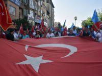 Uygur Türkleri'ne yapılan Çin zulmü, Mersin'de protesto edildi