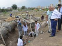 Başkan Kocamaz'dan Soli Pompeipolis Antik Kenti'ndeki kazı çalışmalarına maddi destek
