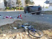 Anamur'da trafik kazası: 1 ölü, 2 yaralı