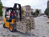 Erdemli Belediyesi, parke yolda kendi rekorunu kırdı