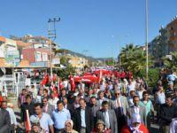 Mut'ta terör protesto edildi