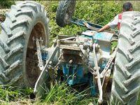 Çamlıyayla'da traktör devrildi: 1 ölü
