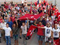Mersin'de terör olayları protesto edildi