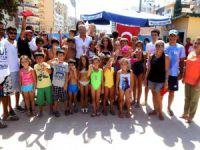 Mezitli Belediyesi'nin yüzme kursu sona erdi