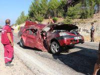 Mut'taki kazada sürücü bu otomobilden sağ çıktı