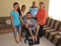 Bozyazılı engelli Hacı Veli Yaşar'a akülü araba