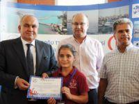 Çevreci öğrencilere ödülü Başkan Tollu verdi