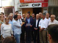 CHP Mersin İl Başkanı Abdullah Özyiğit: Bizce fail, bu katliamı önleyemeyen siyasi iktidardır