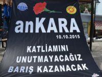 Ankara'daki hain saldırı Anamur'da protesto edildi