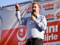 BBP Genel Başkanı Mustafa Destici, Mersin'de partililerle buluştu